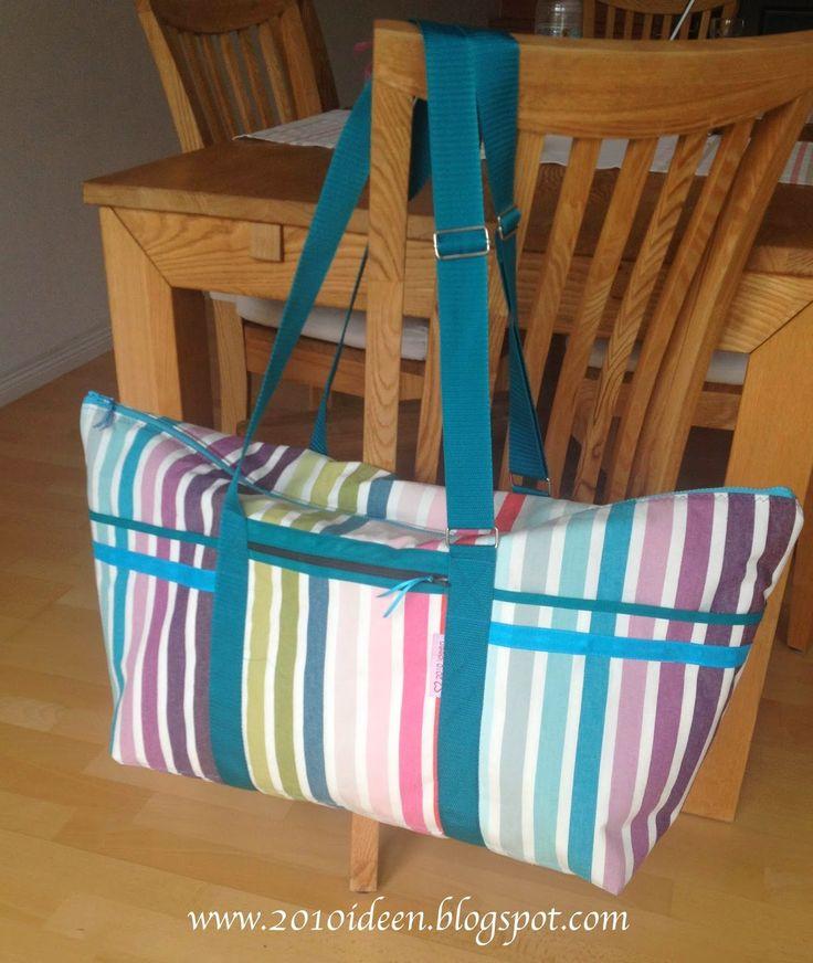 2010 Ideen: Strandtasche XXL mit verstellbarem Tragegurt