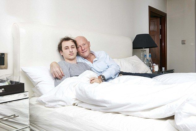 Struck: Billionaire John Caudwell with his son Rufus, who has been diagnosed with the little-known Lyme disease, which can seriously damage the immune and nervous systems, the brain and vital organs
