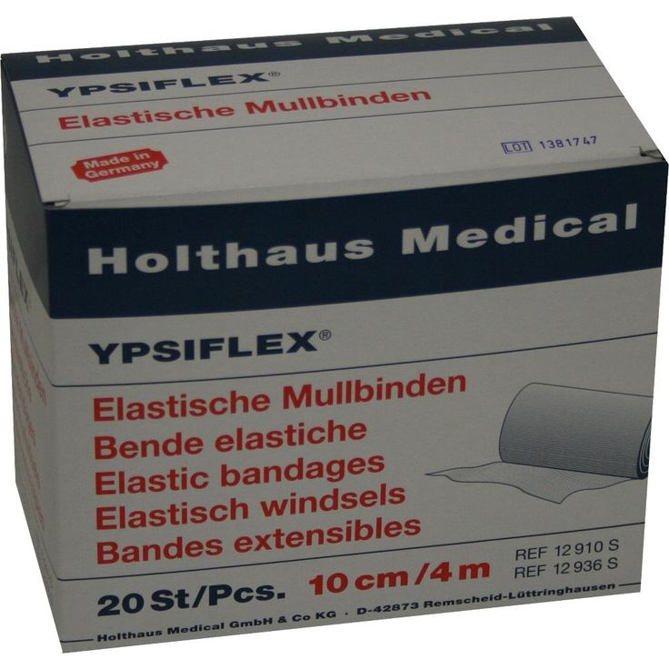 MULLBINDEN elastisch 10 cmx4 m:   Packungsinhalt: 20 St Binden PZN: 04095138 Hersteller: Holthaus Medical GmbH & Co. KG Preis: 10,38 EUR…
