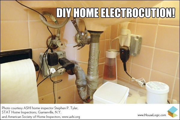 Do It Yourself Electrocution What Were They Thinking Failsmemes Diy Plumbing Home Diy Under Bathroom Sinks