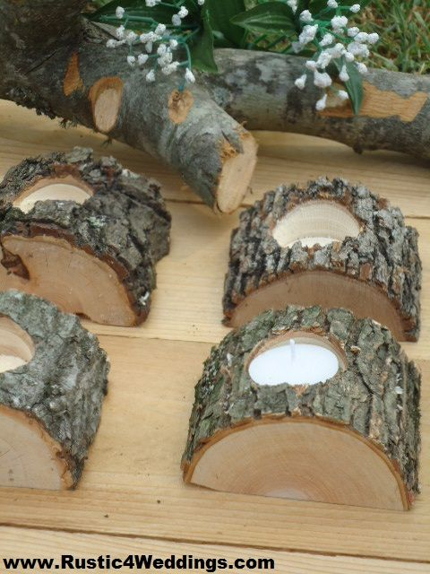 Rustic 4 Weddings: Rustic Wedding Tree Branch Candle Holders