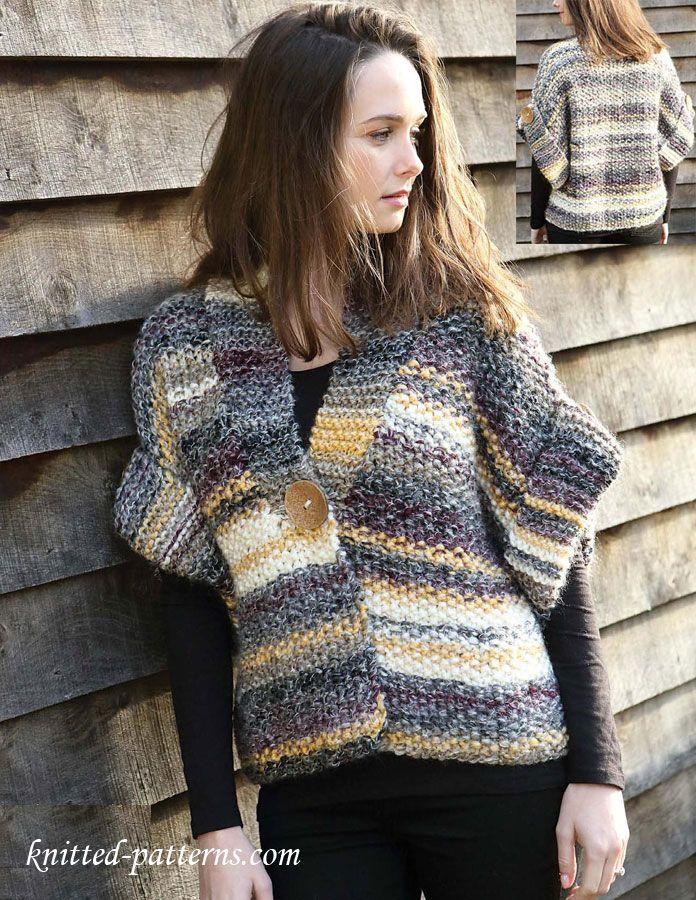 Women's jacket free knitting pattern