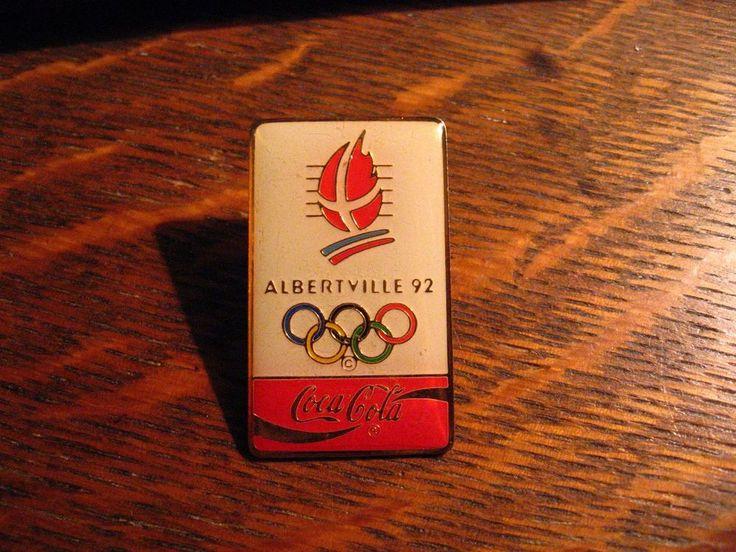 Coca Cola Olympic Pin - Vintage 1992 Albertville France Winter Games Coke Soda  #CocaCola