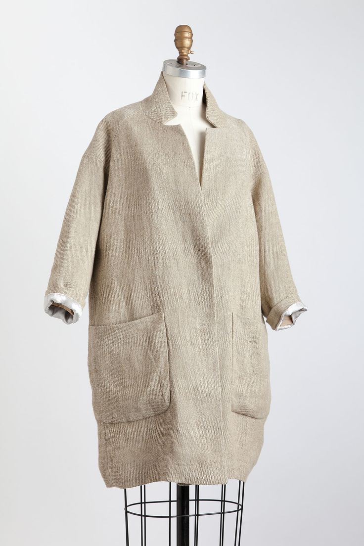 Pomandere Cocoon Coat in Natural