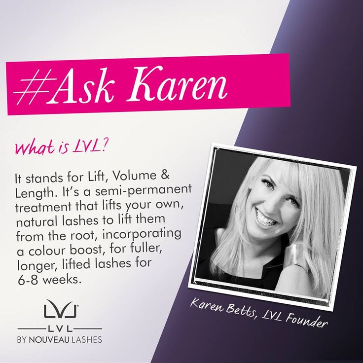 #AskKaren ANYTHING about LVL – after all, she is the creator of the treatment.  What is LVL? #Length #Volume #Lift