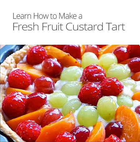 Fresh Fruit Custard Tart Recipe | Pies & Tarts | Pinterest