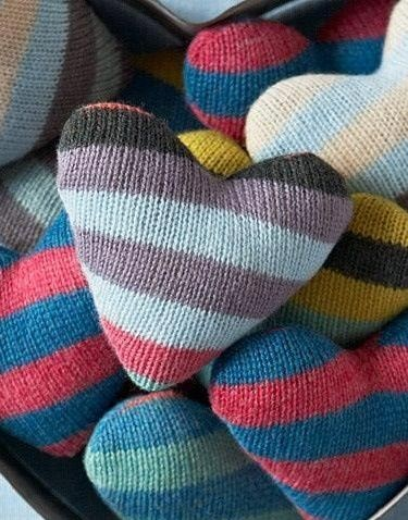 knit leftover yarn