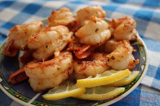 Чесночно-лимонные жареные креветки on http://kulinarniyclub.ru Shpimps