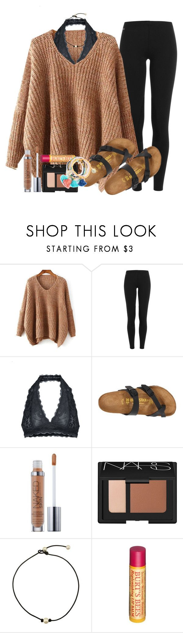 """""""when you wanna wear sweaters cause it's fall but it's 70° out"""" by mgally29 ❤ liked on Polyvore featuring Polo Ralph Lauren, Free People, Birkenstock, Urban Decay, NARS Cosmetics and Burt's Bees"""