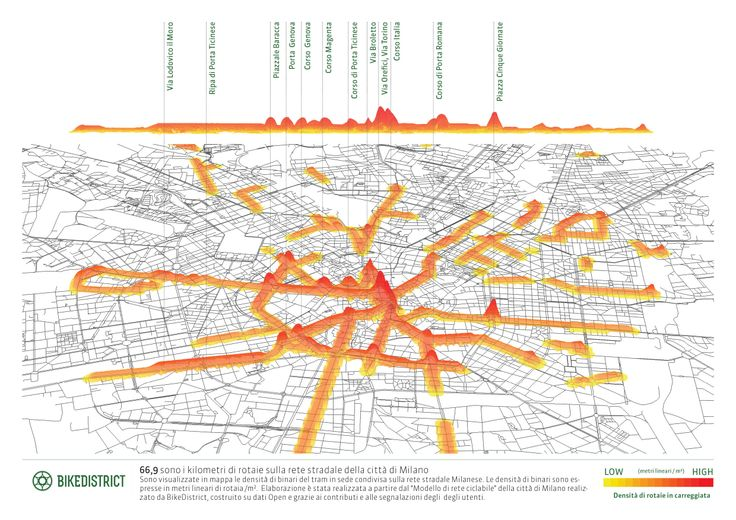 amount of paved streets in Milan   research map   urban planning