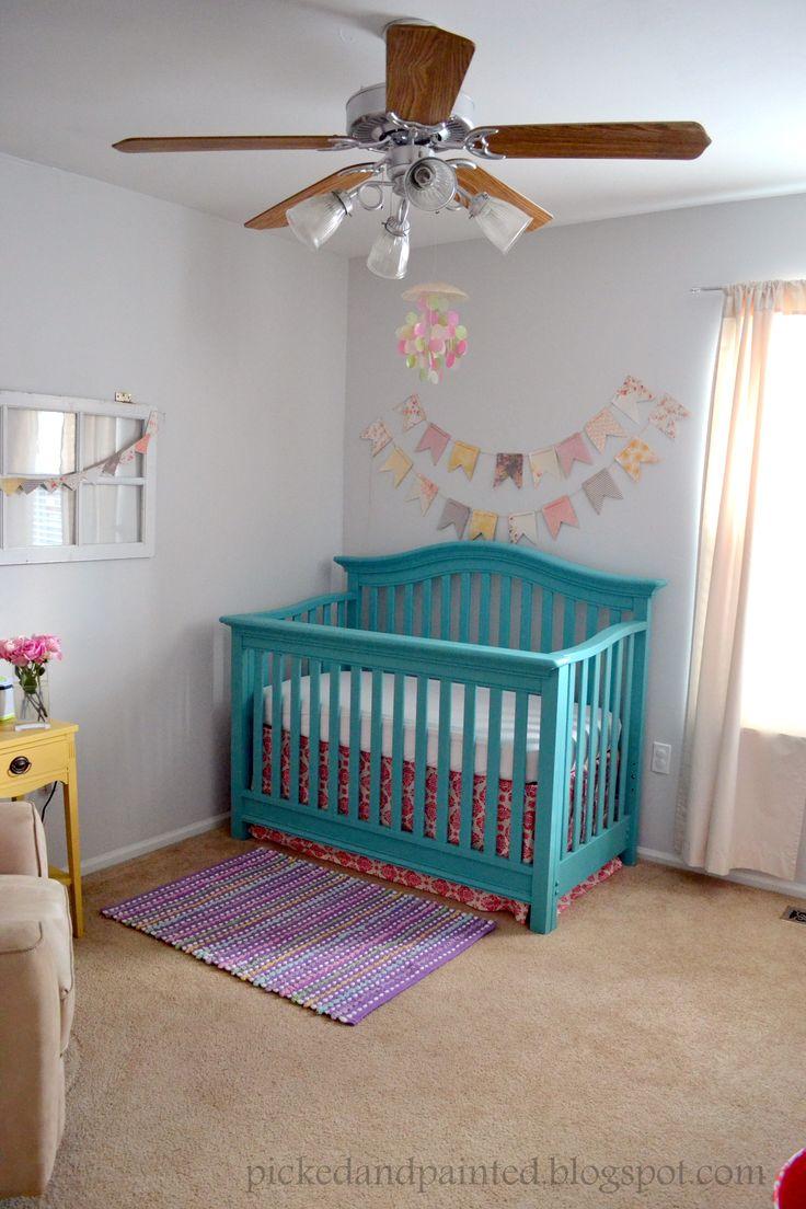 Teal+and+Yellow+Girl+Nursery