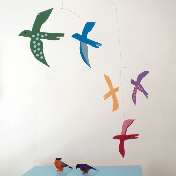 Baby nursery mobile - Birds by Pukapuka - in glorious rainbow colours. by pukapuka on Etsy https://www.etsy.com/listing/84164524/baby-nursery-mobile-birds-by-pukapuka-in