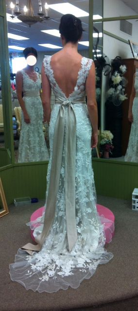 Has anyone added a sash to allure 8800? Any pictures? « Weddingbee Boards