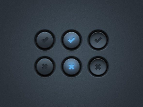 Dark UI Buttons