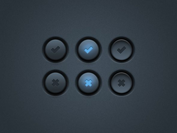 Dark UI Buttons by Matt Gentile