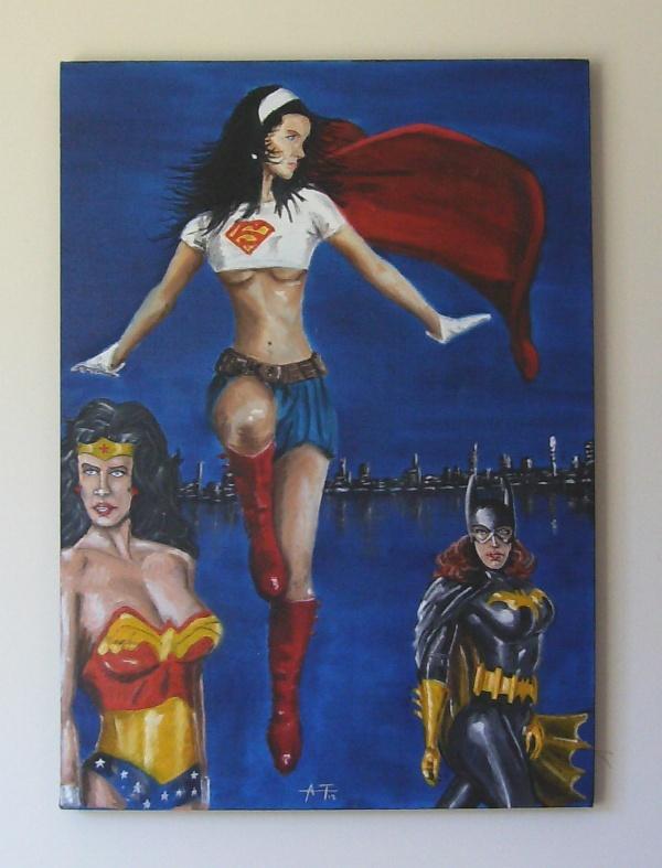 supergirls. oleo