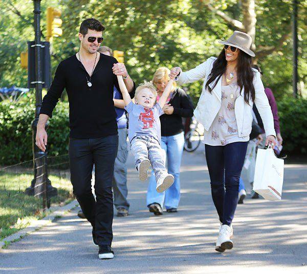 Paula Patton & Robin Thicke Take Son Julian To Park For Fun Playdate