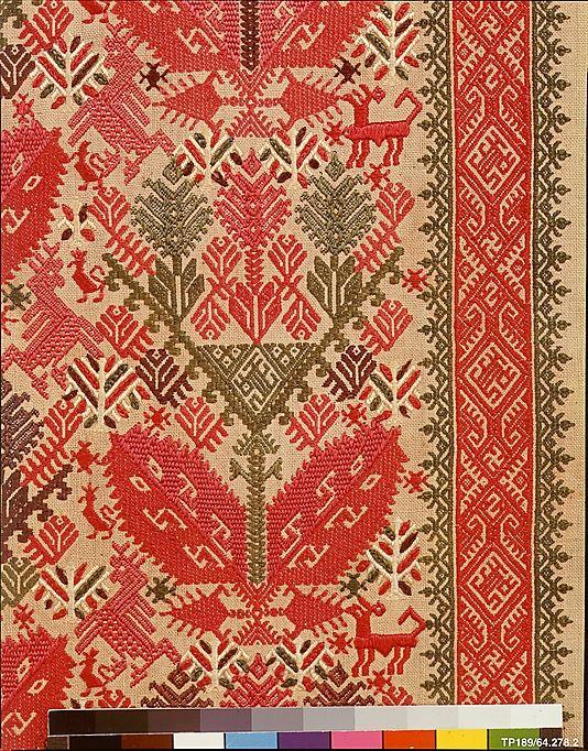 xx..tracy porter..poetic wanderlust...- stitchery-18th century Culture: Greek Islands, Patmos  Medium: Silk on linen