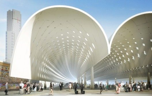 The Flinders Street Station Winning Proposal / HASSELL + Herzog ...