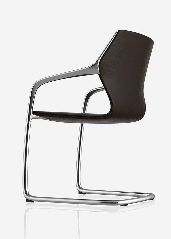 Cantilever ergonomic leather chair RAY by Brunner | #design Jehs+Laub