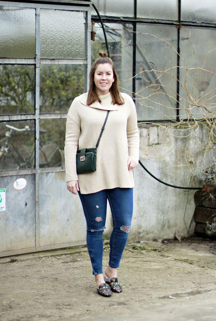 bestickte Slipper, Slipper Trend, embroided Slipper, COS Pullover, Blog Köln, Blogger Deutschland, Fashionblogger, Slipper Frauen, Slipper mit Nieten