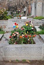 Violeta Parra  Tumba de Violeta Parra en el Cementerio General