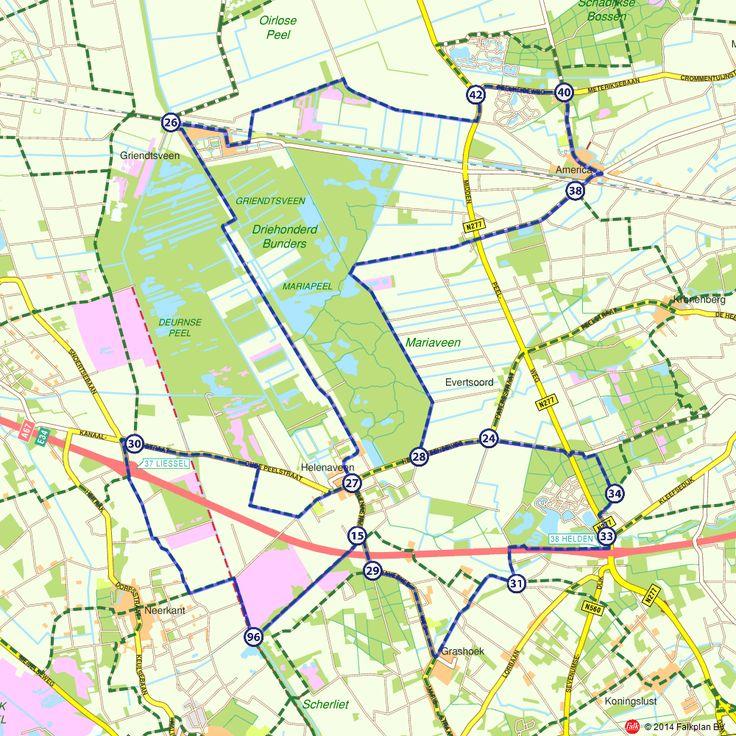 Fietsroute: Dwars door de Peel (http://www.route.nl/fietsroutes/115068/Dwars-door-de-Peel/)