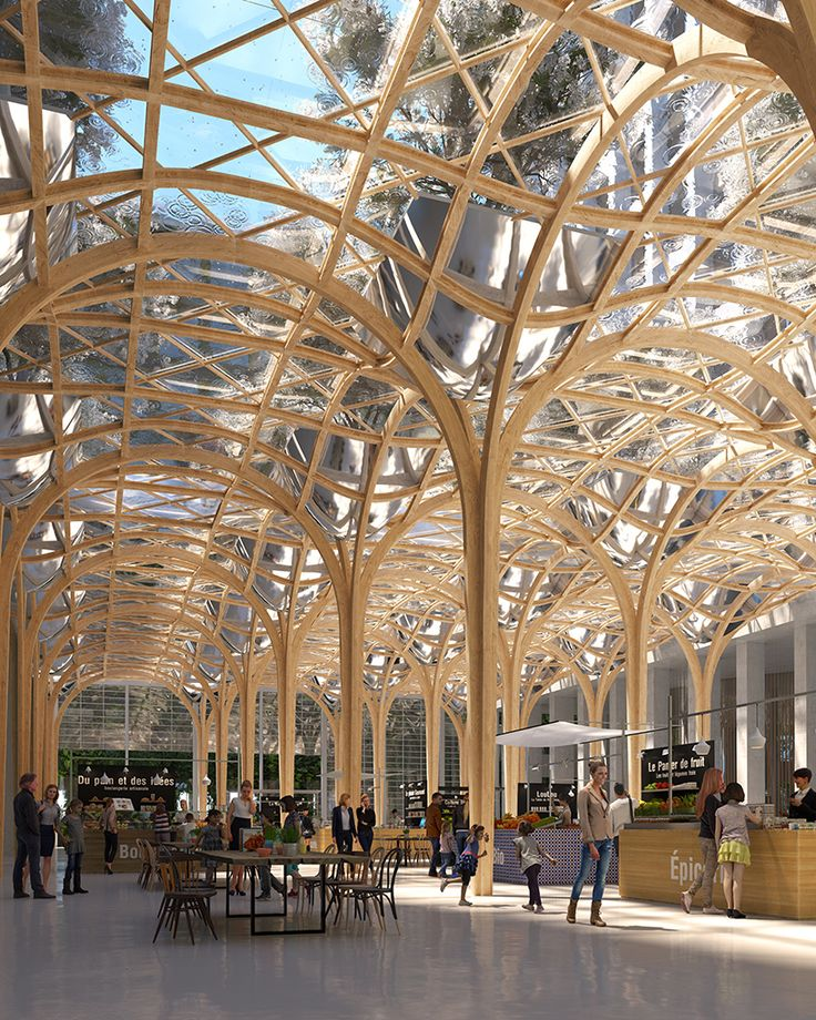 As Part Of Rinventer Paris Japanese Architect Shigeru Ban Submitted A Proposed Design For An
