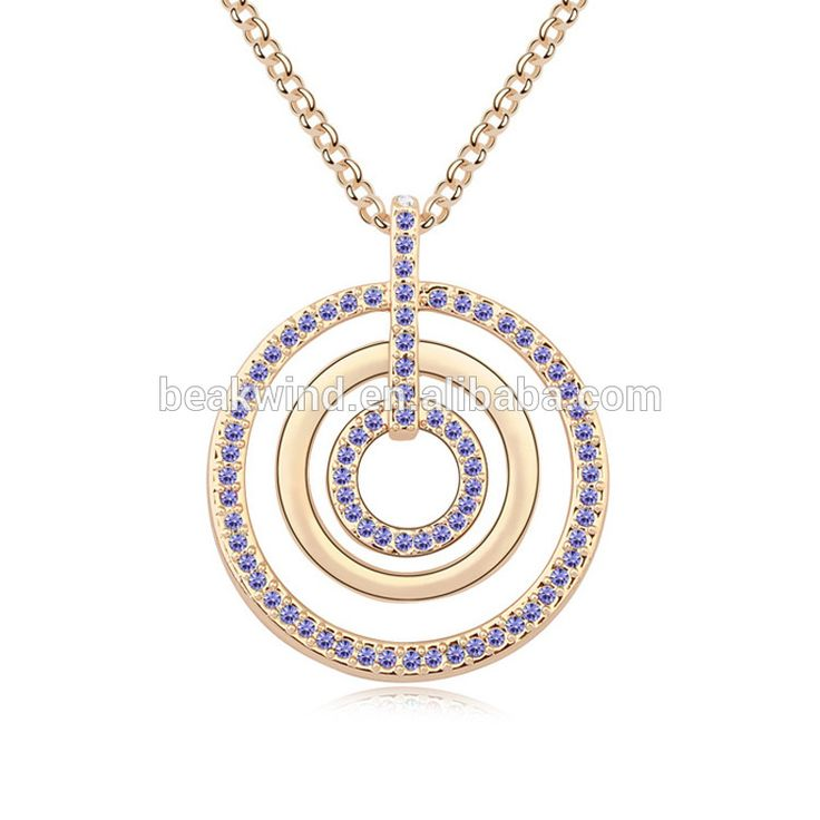 Women necklace 18k gold plated zinc alloy Love track design MY-BW6-091micro pave beads crystal long chain necklace fashion