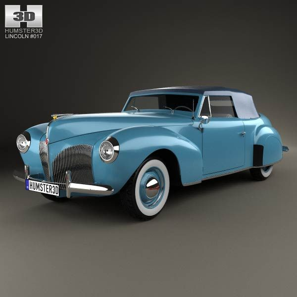Lincoln Zephyr Continental Cabriolet 1939 3d model from humster3d.com. Price: $75