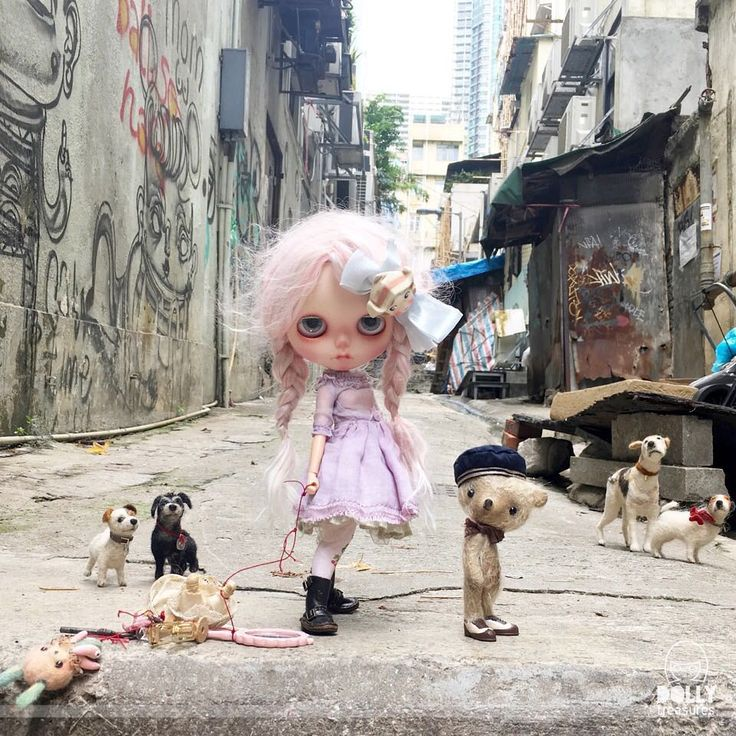 """""""Oh dear me , what a sorrowful sight! Florence doesn't know her left from her right! She's hopeless at directions at the very very best. Now she's lost in Hong Kong and feeling most depressed!"""" #hongkong  #dollphotography  #hongkongisland  #anniedollz  #domenicamoregordon  #dewdropteddybears  #inkarno_art  #dakawaiidolls  #lost #streetphotography  #blythe  #blythedoll  #livethelittlethings  #vintage  #pommepomme  #graffiti"""