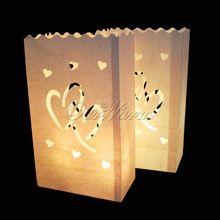 20pcs/lot dubbel hart thee licht houder luminaria kaars zak papieren lantaarn voor kerst feest bruiloft decoratie producten(China (Mainland))