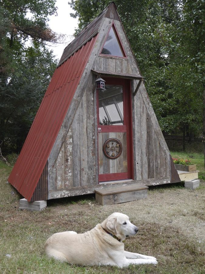 """This is the $1,200 transforming A-frame cabin designed by Derek """"DEEK"""" Diedricksen. That's right! It's a tiny cabin that you can build for only $1,200 in materials. You can …"""