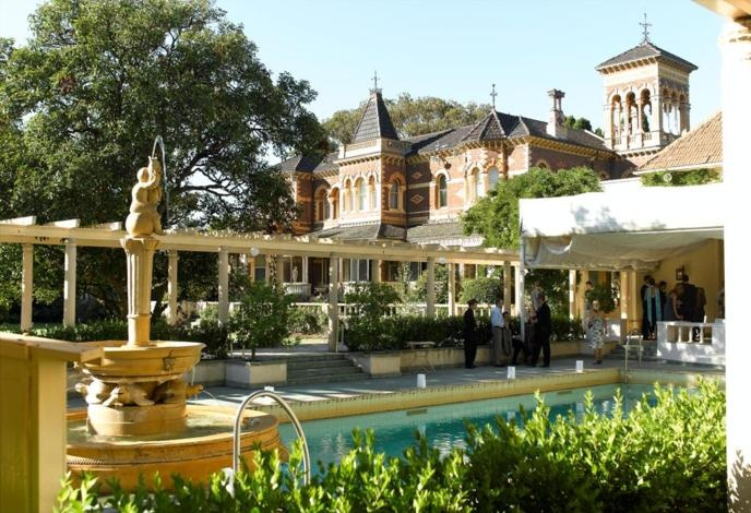 Cocktail party by the pool terrace?  Rippon Lea has an immaculate water feature to enjoy by day or night.