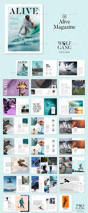 Alive Magazine Template - modern, minimal brochure, magazine, catalog, portofoli...