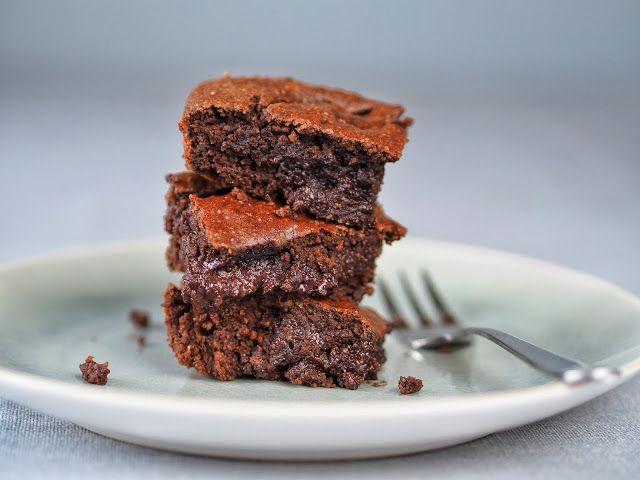 Čokoládové brownies s arašídovým máslem / Čokoládové cookies   Moje barevná kuchyně