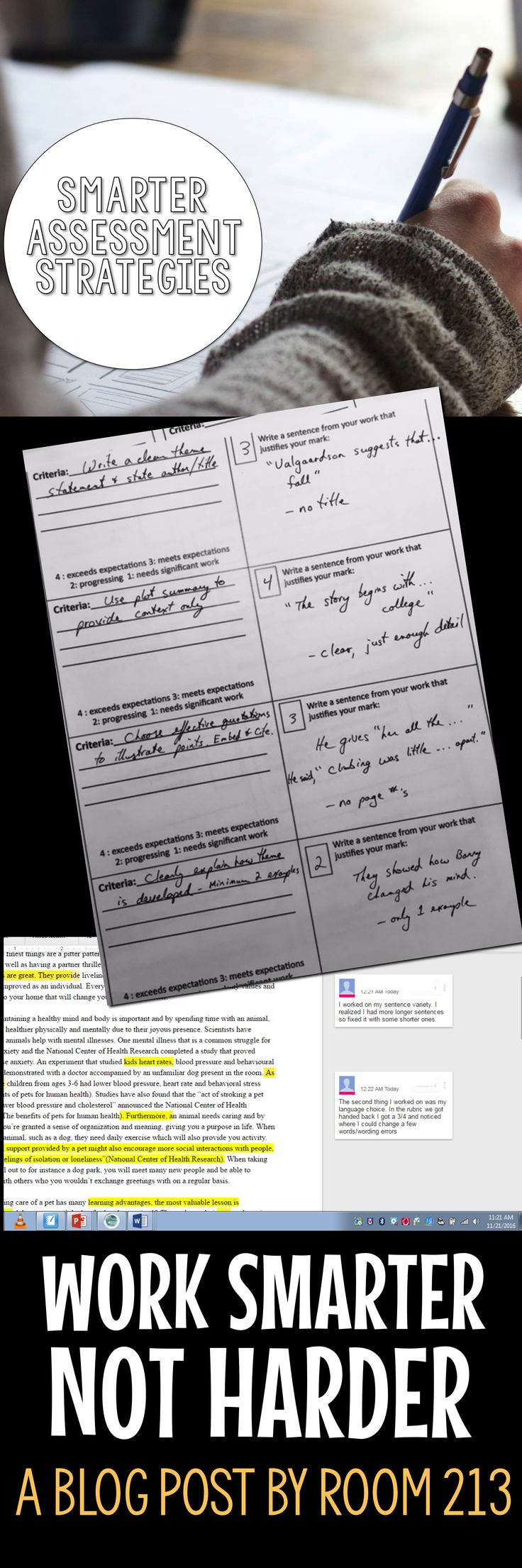 Assessment strategies that put more responsibility in the students hands...and less work in yours!