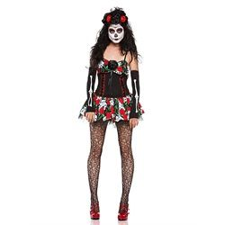 Wholesale Halloween Costumes - Adult Sexy Dahlia of the Dead Costume
