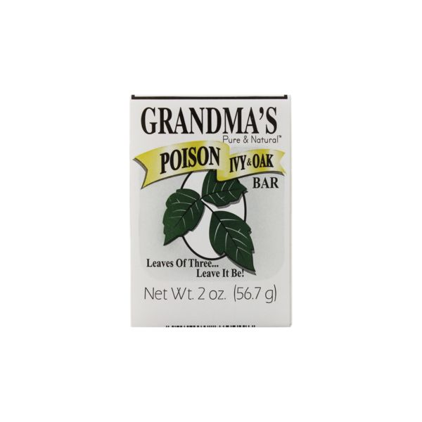 GRANDMA'S Poison Ivy Bar w/Jewelweed, 2.0 oz.If exposed, wash contact areas well with cool water and GRANDMA'S Poison Ivy Bar to remove poison oils. (Cool water