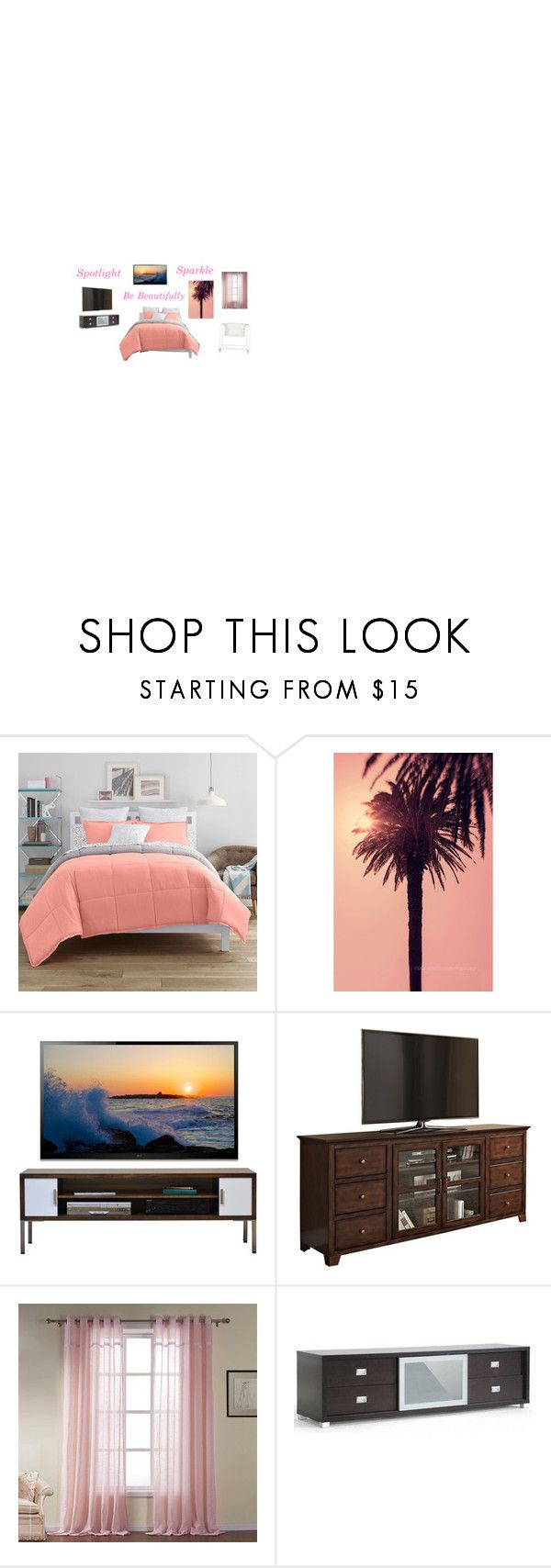 """""""My Room"""" by kalystacheer on Polyvore featuring interior, interiors, interior design, home, home decor, interior decorating, JCPenney Home and Baxton Studio"""