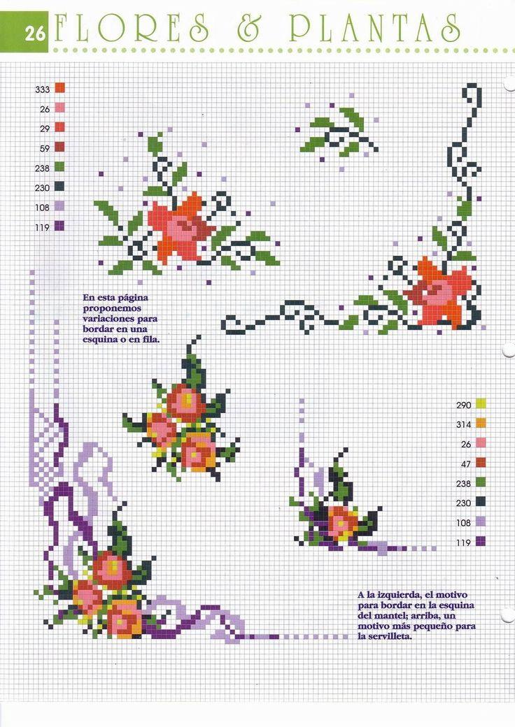 Fiori arancio e rossi - Angoli tovaglia