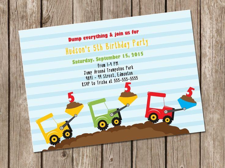 Printable Birthday Invitations For Boy ~ Best kid birthday party invitations printable images on