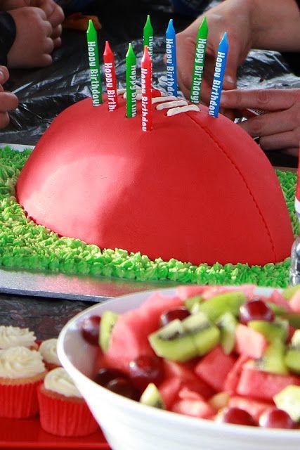 AFL Football Birthday Party - Football Birthday Cake - Fondant - aussie rules