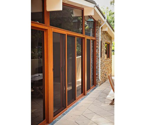 Timber look alumnium sliding doors from Decorative Imaging - http://www.spec-net.com.au/press/0212/deco_220212.htm #timber #aluminium #slidingdoors #design #architecture