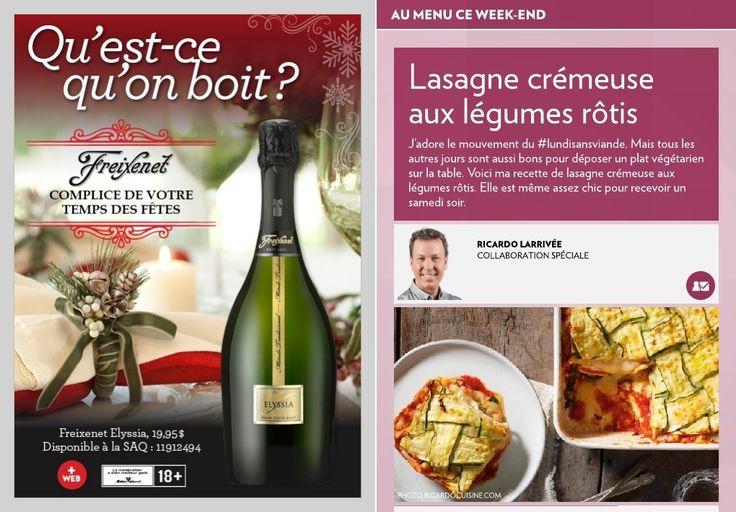 Lasagne crémeuse aux légumes rôtis - La Presse+