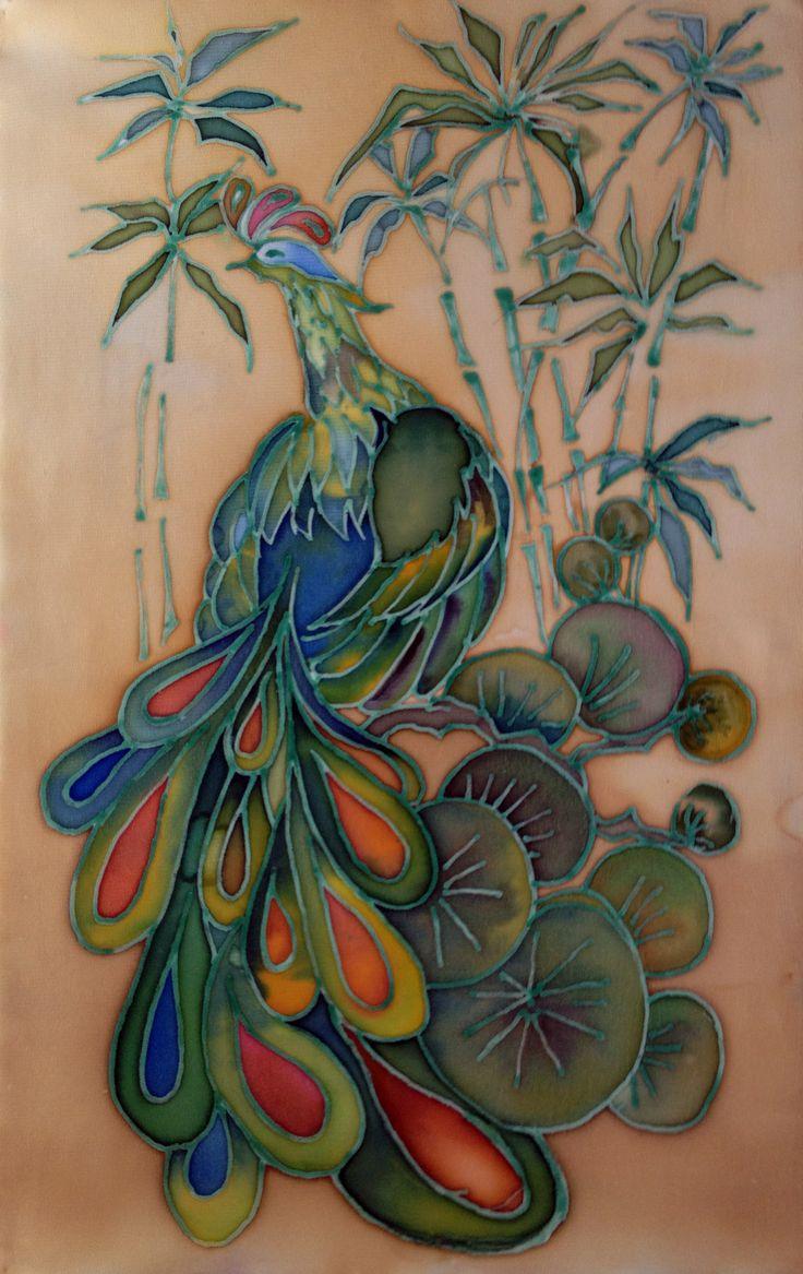 Bird of Paradise. Batik