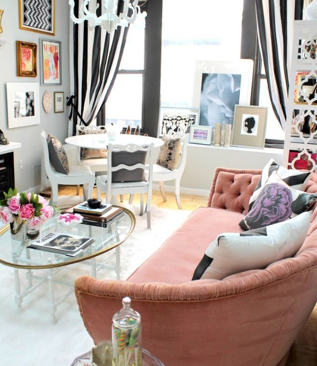 Bachelorette Small Space Apartment Condo Decorating Girly Furniture