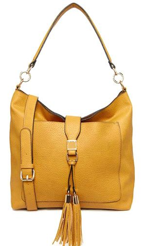 Yellow Colour PU Women Tote Bag with Strap Detail