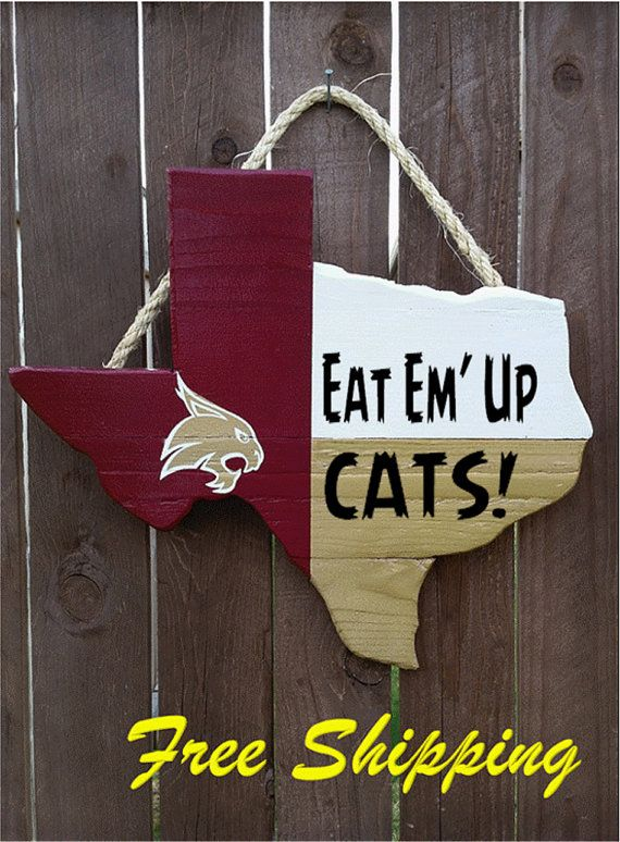 Rustic Wooden Texas State University Texas by OldSchoolDesign