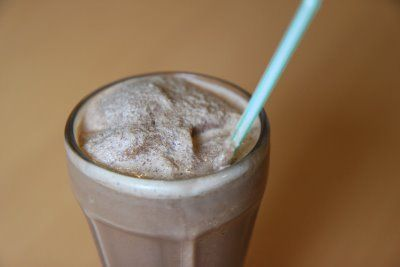 """This is another fantastic recipe that I found on Hillbilly Housewife called, """"Magic Milkshakes."""" To me, this recipe tastes just like a Wendy's Frosty with a fantastic balance of chocolate, creaminess, and the spoonable or sippable goodness that makes them one of my favorite summertime treats."""